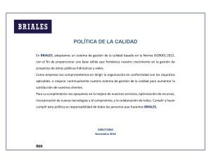 POLITICA DE LA CALIDAD-001